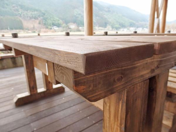 田川科学技術高等学校 テーブルとベンチのセッ