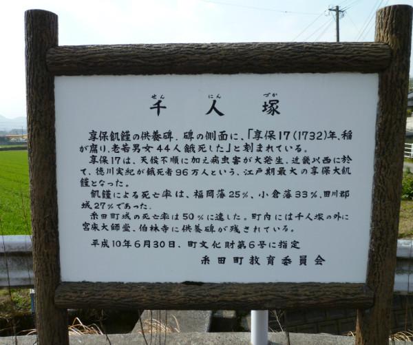 千人塚説明版A