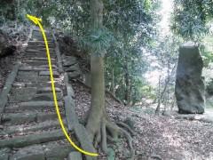 観音堂への石段