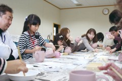 上野焼マグカップ絵付け体験