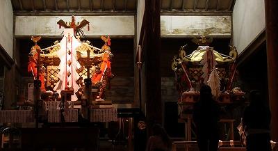 お旅所の神輿