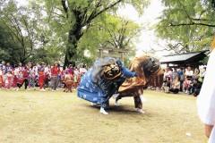 稲荷神社金田一区獅子楽